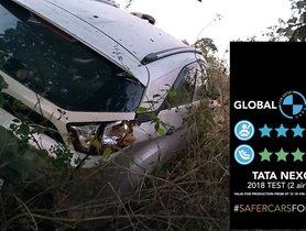 Tata Nexon Crashes Due To Multiple Tyre Bursts, All Passengers Safe
