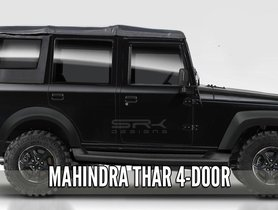 2020 Mahindra Thar 4-door Version Imagined Digitally