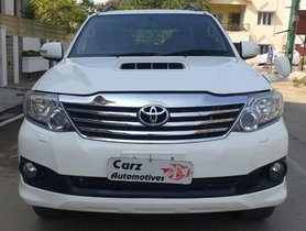2013 Toyota Fortuner 4x4 MT for sale in Bangalore