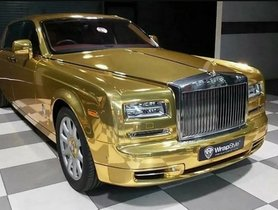 Rs 25,000 Is All You Need To Hire This Gold Rolls Royce Phantom