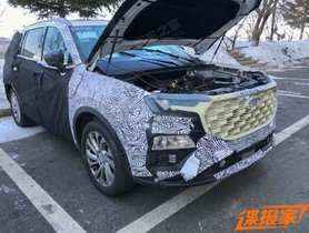 Next Generation Ford Endeavour Spied Testing For The First Time Ever
