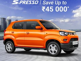 Maruti S-Presso On Sale With Discounts Worth Rs 45,000