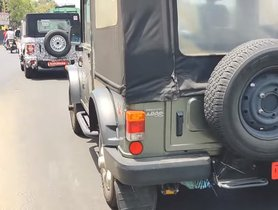 New Gen Mahindra Thar Spotted Alongside Current Model