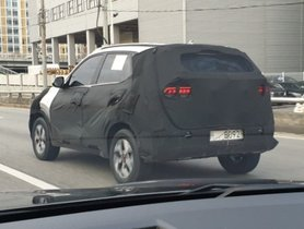 Kia Sonet Spied Again With Dual Tone Alloy Wheels