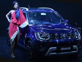 2020 Maruti Ignis Facelift Poses At Lakme Fashion Week