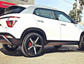 "This is the First Ever New Hyundai Creta With 18"" Alloy Wheels and Low Profile Tires"