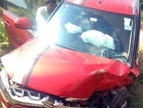 Maruti Vitara Brezza (4-Star NCAP) Has a Pretty Big Front-end Collision, All Passengers Safe