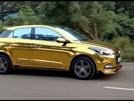 Modified Hyundai Elite i20 With Gold Wrap and Sporty Body Kit is a STUNNER