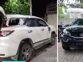 Tata Nexon Hits Toyota Fortuner, Keeps Occupants Safe