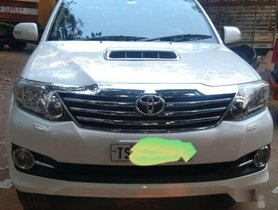 Used 2016 Toyota Fortuner MT for sale in Hyderabad