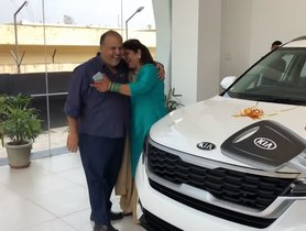 Watch: Husband Gifts A Brand New Kia Seltos To Wife On Silver Jubilee Anniversary