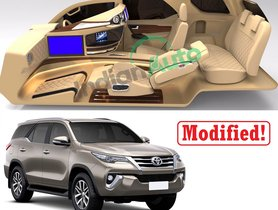 EXCLUSIVE - Here's Second Toyota Fortuner Custom Interior Kit By Dilip Chhabria