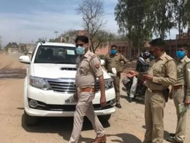 Toyota Fortuner with MLA Sticker Stopped and Fined for Driving in Lockdown