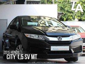 Used Honda City SV, 2015, Petrol MT for sale in Kolkata