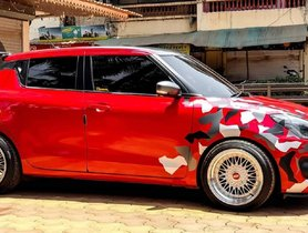 Here's a Low-rider Modified Maruti Swift