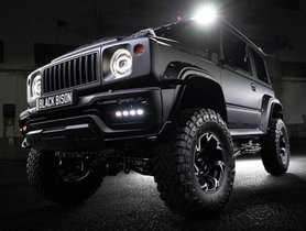 This All Black Modified Suzuki Jimny Is Rightly Named 'Black Bison'