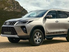 Facelifted Toyota Fortuner Rendered Based On Spy Images