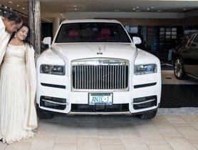 Husband Gifts Wife a Rolls Royce Cullinan SUV On 25th Wedding Anniversary