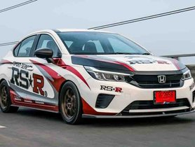 All New Honda City Modified to Look Like a Race Car