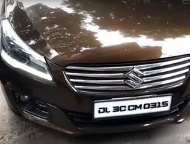 Here's an Old Maruti Ciaz with DRL-equipped Headlamps of New Model