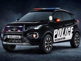 Tata Nexon Facelift Modified To Become A Police Interceptor