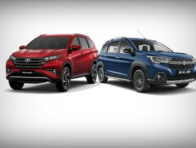 Maruti XL6 vs Toyota Rush Specs Sheet Compared