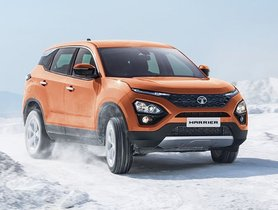 Check Out Tata Harrier Easily Driving On Snow Without 4x4 Assistance