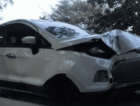 Ford EcoSport That Had Met With a Huge Accident Easily Clocks 2 Lakh Kms