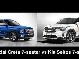 7-seater Kia Seltos vs 7-seater Hyundai Creta - What's Your Pick?