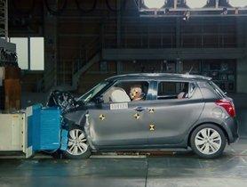 Check Out Suzuki Swift (3-star Euro NCAP) in Internal Crash Testing by Manufacturer