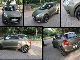 How About a Maruti Swift In Army Green Wrap?