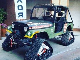 Check Out Mahindra Thar-based Roxor with 'tank tracks'