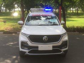 MG Hector Ambulance Donated to Vadodara Authorities