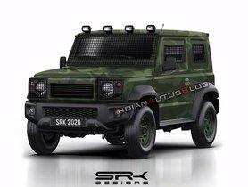Army-spec Suzuki Jimny (New Maruti Gypsy) Looks Just Right!