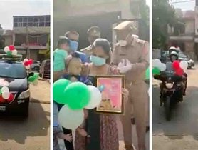 Police Convoy of Toyota Innova and Bajaj Pulsars Sent To Celebrate Baby Girl's 1st Birthday