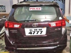 Toyota Innova Crysta Lent To Kerala Police To Fight Pandemic