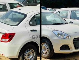 Base Model Maruti Dzire Facelift Seen In Broad Daylight