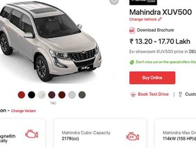 Now Buy Mahindra XUV500, Scorpio, Bolero, etc Online