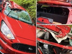 Ford Freestyle (Related to 4-star NCAP Figo) Hit HARD By a Truck, Occupants Safe