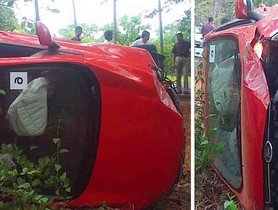 Here Are Visuals of First Ever Ford EcoSport Accident, Occurred Even Before the Launch!