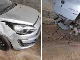 Ford Figo (4-star L-NCAP Score) Meets With A Massive Accident, Owner Totally Safe