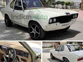 Here's a 2-Door Hindustan Contessa With 'Tata Safari Pearl White' Paint and Several Other Mods