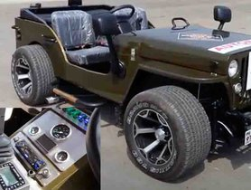 This Modified Willys Jeep With Air Suspension is a DESI RAT ROD