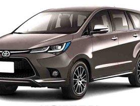 Upcoming Toyota Innova Crysta Facelift Digital Rendering