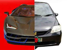 Here's a Made-In-India Lamborghini That's Actually an Old Honda City