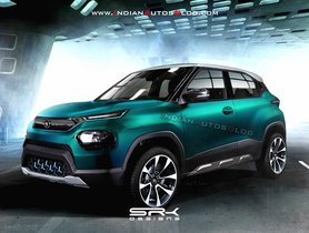 Tata HBX EV Electric Micro-SUV Rendered