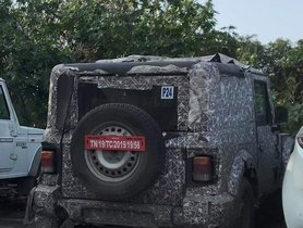 2020 Mahindra Thar To Launch Soon, Spotted in a Parking Lot