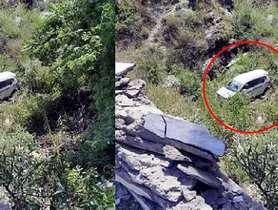 Old Maruti Ertiga (4 Star A-NCAP) Falls Off a Mountain, All Passengers Safe