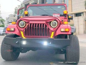 Mahindra Thar Customized With Sunroof, Touchscreen And Beige Interiors