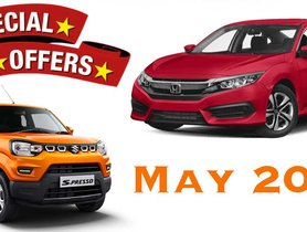 Best May Car Offers 2020 - Many Deals & Discounts on Maruti S-Presso to Honda Civic